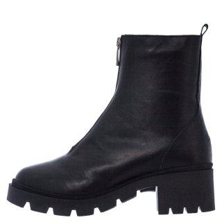 Γυναικεία Μποτάκια 594 20517 Δέρμα Μαύρο Aeros