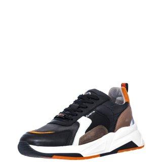 Ανδρικά Sneakers 10720 5836AM FULVO Δέρμα Ύφασμα Μαύρο Ambitious