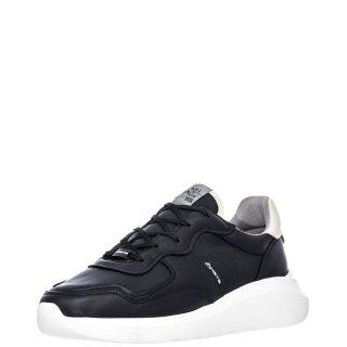 Ανδρικά Sneakers 10926 4192AM FREEDOM Δέρμα Μαύρο Ambitious