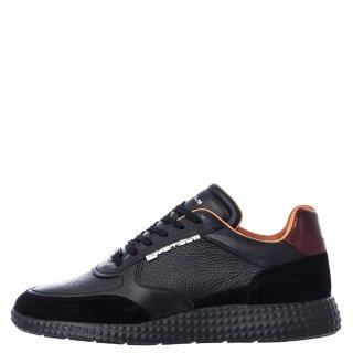 Ανδρικά Sneakers 11012 4232AM RITT Δέρμα Μαύρο Ambitious