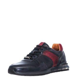 Ανδρικά Sneakers 11109 6329AM KISHU Δέρμα BlueBlack Ambitious