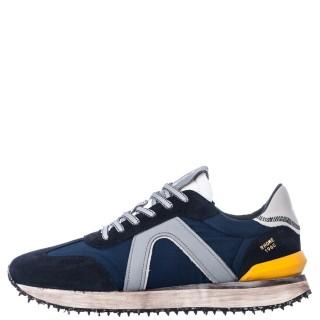 Ανδρικά Sneakers 1W1 080 054 RHOME Ύφασμα Δέρμα Καστόρι Μπλέ Ambitious