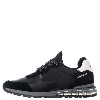 Ανδρικά Sneakers 1W1 080 093 KISHU Δέρμα Δέρμα Καστόρι Μαύρο Ambitious