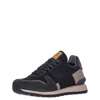 Ανδρικά Sneakers 1W1 080 125 SILKY Δέρμα Δέρμα Καστόρι Μαύρο Γκρι Ambitious