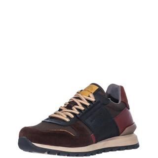 Ανδρικά Sneakers 1W1 080 126 SILKY Δέρμα Δέρμα Καστόρι Καφέ Πολύχρωμο Ambitious