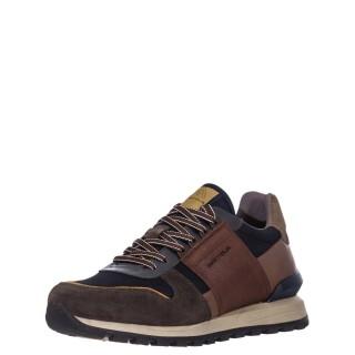 Ανδρικά Sneakers 1W1 080 127 SILKY Δέρμα Δέρμα Καστόρι Μπλέ Πολύχρωμο Ambitious