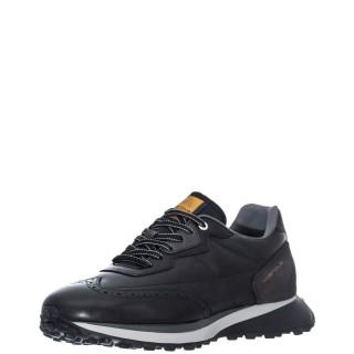 Ανδρικά Sneakers 1W1 080 147 RILEY Δέρμα Δέρμα Καστόρι Μαύρο Ambitious