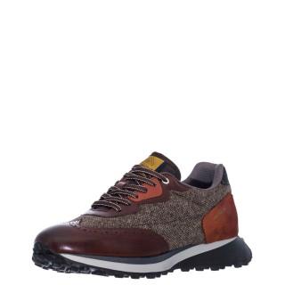 Ανδρικά Sneakers 1W1 080 148 RILEY Δέρμα Ύφασμα Δέρμα Καστόρι Κονιάκ Ambitious