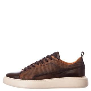 Ανδρικά Sneakers 1W1 080 158 ECLIPSE Δέρμα Κονιάκ Ambitious