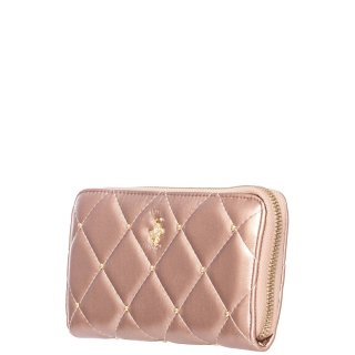 Γυναικεία Πορτοφόλια BH2405 Eco Leather Ροζ Χρυσό Beverly Hills Polo Club