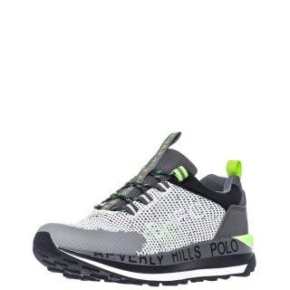 Ανδρικά Sneakers S2152 HM633 Ύφασμα Eco Leather Λευκό Γκρι Beverly Hills Polo Club