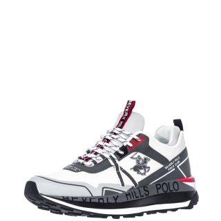 Ανδρικά Sneakers S2152 HM634 Ύφασμα Eco Leather Λευκό Γκρι Beverly Hills Polo Club