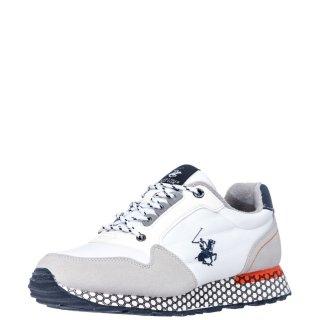 Ανδρικά Sneakers S2194 HM625 Ύφασμα Eco Suede Λευκό Beverly Hills Polo Club