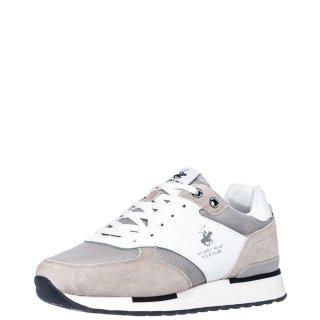 Ανδρικά Sneakers S2194 HM630 Δέρμα Δέρμα Καστόρι Λευκό Beverly Hills Polo Club