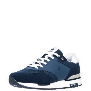 Ανδρικά Sneakers S2194 HM630 Δέρμα Δέρμα Καστόρι Μπλέ Beverly Hills Polo Club