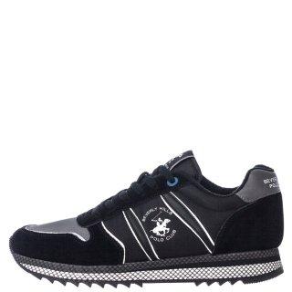 Ανδρικά Sneakers W20 SHM500 Δέρμα Καστόρι Μαύρο Beverly Hills Polo Club