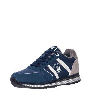 Ανδρικά Sneakers W20 SHM500 Δέρμα Καστόρι Μπλέ Beverly Hills Polo Club