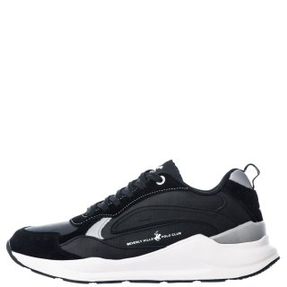 Ανδρικά Sneakers W20 SHM520 Δέρμα Καστόρι Eco Leather Μαύρο Beverly Hills Polo Club