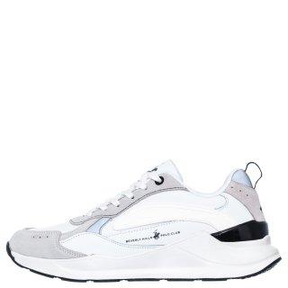 Ανδρικά Sneakers W20 SHM520 Δέρμα Καστόρι Eco Leather Λευκό Beverly Hills Polo Club