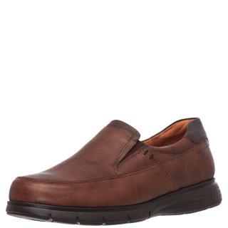 Ανδρικά Casual Παπούτσια 21165 Δέρμα Ταμπά Boxer