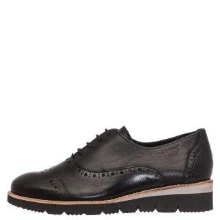 Γυναικεία Casual Παπούτσια 93000 Δέρμα Μαύρο Boxer