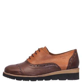 Γυναικεία Casual Παπούτσια 93000 Δέρμα Καφέ Ταμπά Boxer
