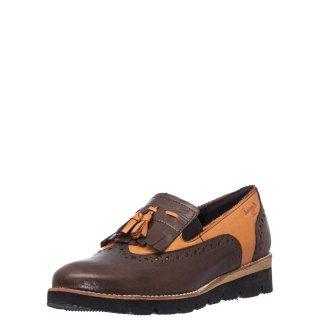 Γυναικεία Casual Παπούτσια 93003 Δέρμα Καφέ Ταμπά Boxer