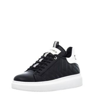 Γυναικεία Sneakers DE1480 Δέρμα Μαύρο CafeNoir