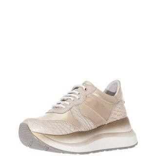 Γυναικεία Sneakers GDC801 2400 Δέρμα Πλατίνα CafeNoir