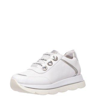 Γυναικεία Sneakers HDB161 Δέρμα Λευκό CafeNoir