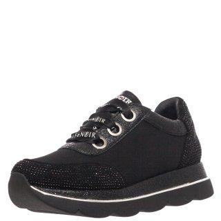 Γυναικεία Sneakers HDB964 Δέρμα Σατέν Μαύρο CafeNoir