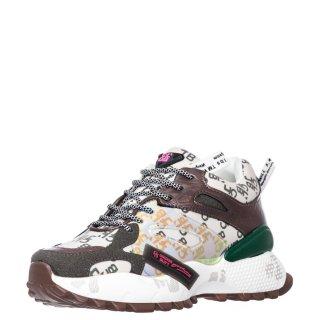 Γυναικεία Sneakers 99130 K20 Ύφασμα Eco Leather Πράσινο Πολύχρωμο Calgary