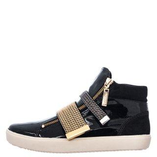 Γυναικεία Sneakers 111833 Δέρμα Λουστρίνι Μαύρο Carrano