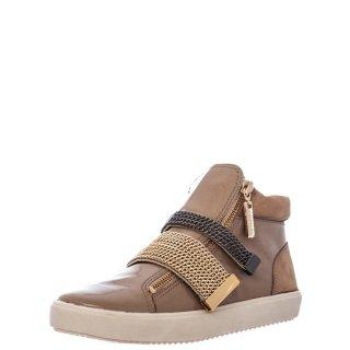 Γυναικεία Sneakers 111833 Δέρμα Λουστρίνι Μπεζ Carrano