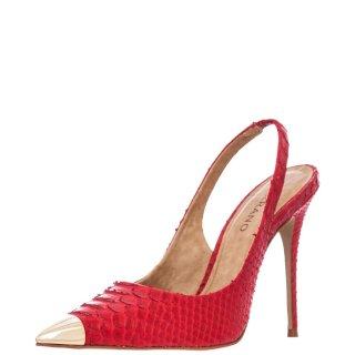Γυναικείες Γόβες 151239B CAB07 SNAKE SKI Δέρμα Φίδι Κόκκινο Carrano