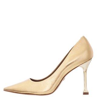 Γυναικείες Γόβες 217001B MET01 METAL Δέρμα Χρυσό Carrano