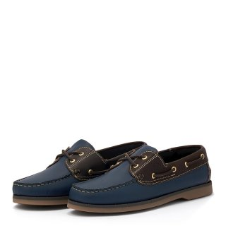Ανδρικά Boat Shoes 2007 Δέρμα Μπλέ Commanchero