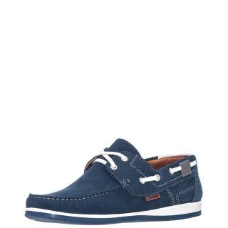 Ανδρικά Boat Shoes 2027 Δέρμα Nubuck Μπλέ Commanchero