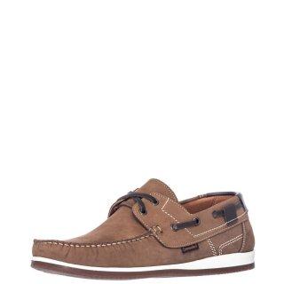 Ανδρικά Boat Shoes 2027 Δέρμα Nubuck Μπεζ Commanchero