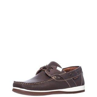 Ανδρικά Boat Shoes 2041 Δέρμα Καφέ Commanchero