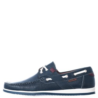 Ανδρικά Boat Shoes 2041 Δέρμα Μπλέ Commanchero