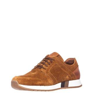 Ανδρικά Sneakers 72125 Δέρμα Καστόρι Ταμπά Commanchero