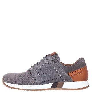 Ανδρικά Sneakers 72126 Δέρμα Καστόρι Γκρι Commanchero