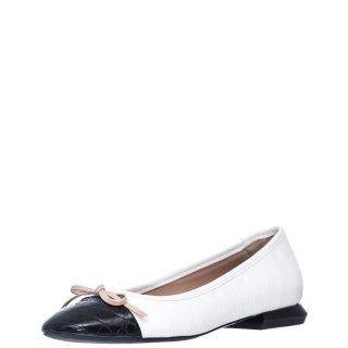 Γυναικείες Μπαλαρίνες E02 11112 Eco Leather Λευκό Envie