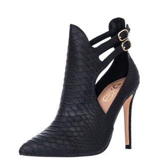 Γυναικεία Μποτάκια 293 JESSICA 923 Eco Leather Κροκό Μαύρο Exe