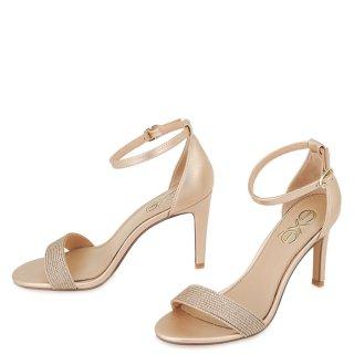 Γυναικεία Πέδιλα 303 REBECA Eco Leather Πλεκτό Σχοινί Ροζ Χρυσό Exe