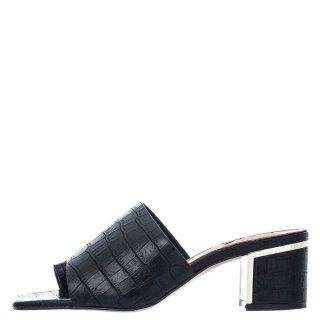 Γυναικεία Σαμπό 554 BELLA Eco Leather Κροκό Μαύρο Exe