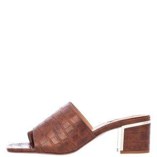 Γυναικεία Σαμπό 554 BELLA Eco Leather Κροκό Ταμπά Exe