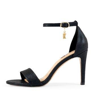 Γυναικεία Πέδιλα 931 REBECA Eco Leather Φίδι Μαύρο Exe