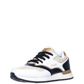 Γυναικεία Sneakers V03 61282 Δέρμα Ύφασμα Λευκό Gaudi